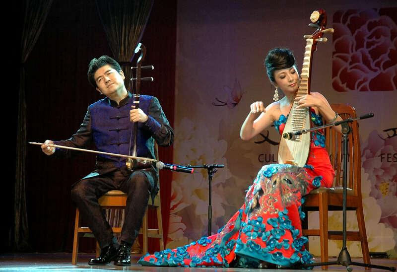 二胡琵琶合奏:美丽的神话-文化中国 四海同春艺术团在仰光演出剧照
