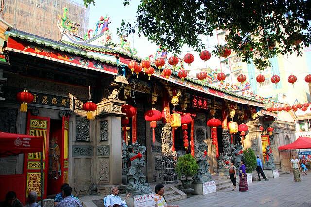 013慶福宮福建觀音亭香火旺盛也是仰光重要旅游景點之一