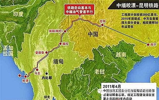尹鸿伟《中缅铁路搁浅背后》(2014年)