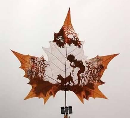 您见过树叶雕刻吗?这应该是你的第一次! - 格格 - 格格的博客