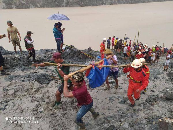 克钦邦帕甘玉矿区发生塌方,死亡人数已达146人
