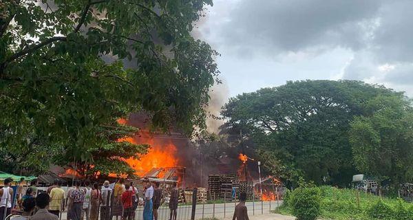得贡谬迪(南部)发生火灾