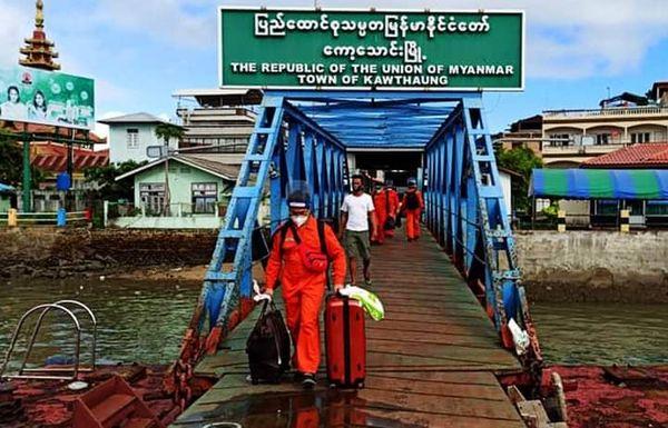 缅甸海员工人联合会安排专车接送船员