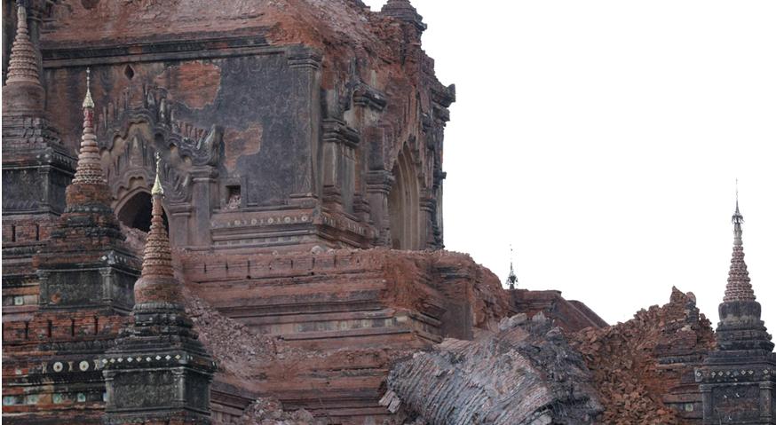 緬甸发生6.9级地震蒲甘有佛塔倒塌 - 南加缅华联谊会 -           南加州缅华联谊会主办