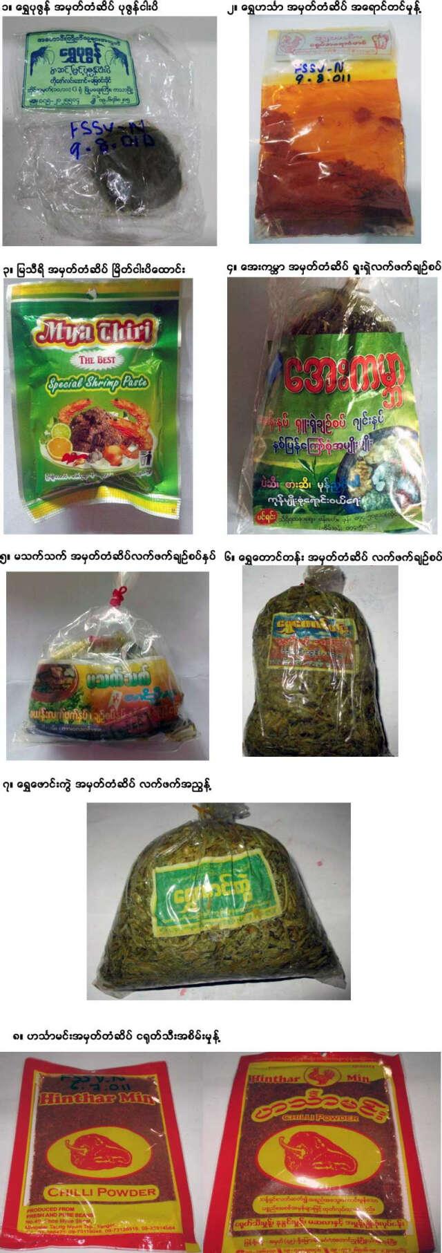 缅甸违规食品(2017年第三季)
