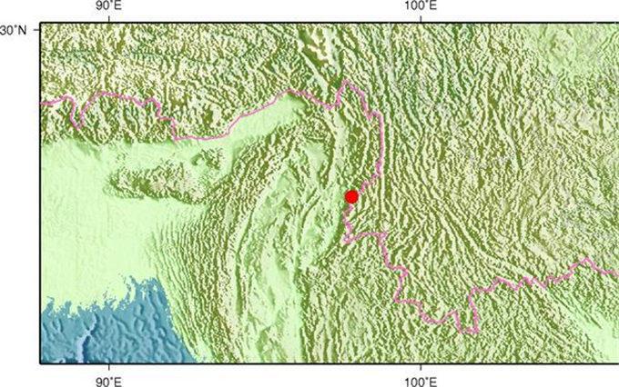 6月29日22时51分缅甸果敢发生3.5级地震