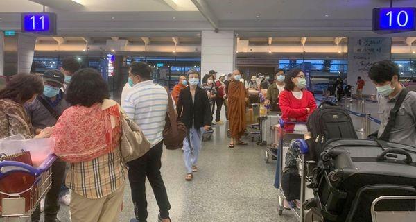 58位缅甸公民乘坐中华航空返回缅甸