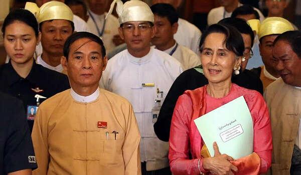 """""""民族团结政府""""在缅甸成立,温敏任总统、昂山素季担任国务资政"""